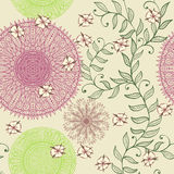 Seamless pastel pattern with flowers Stock Photography