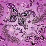 Seamless Pastel Pink Vintage Pattern Stock Photo