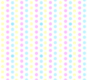 Seamless pastel polka dots Royalty Free Stock Photography
