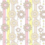 Seamless pastel retro abstract star background. Textile and wall Royalty Free Stock Images