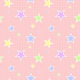 Seamless Pastel Star Pattern Stock Image