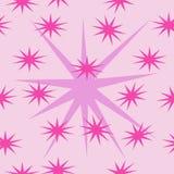 Soft pastel stars on pink background vector illustration