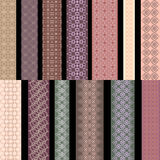 Seamless pastel  vertical lace pattern with paisley. Vector set. Stock Photography
