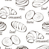 Seamless pastry pattern Royalty Free Stock Image
