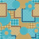 Seamless Patchwork Background Royalty Free Stock Photos