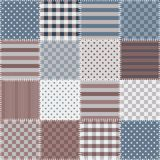 Seamless patchwork background with different patterns. Royalty Free Stock Photos