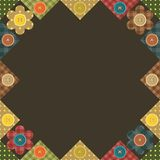 seamless patchwork background with flowers Stock Photos