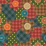 seamless patchwork background with flowers Stock Image