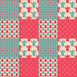 Seamless patchwork background royalty free illustration