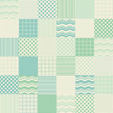 Seamless patchwork background Stock Images