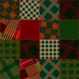 Seamless patchwork of check sguare Stock Image