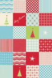 Seamless patchwork christmas pattern. Vector illustration Stock Images