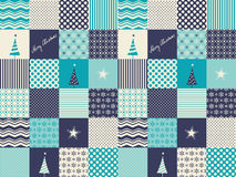 Seamless patchwork christmas pattern Royalty Free Stock Images