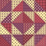 Seamless patchwork claret color pattern 1 Stock Image
