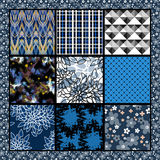 Seamless patchwork design pattern in retro Royalty Free Stock Images