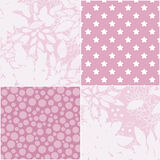 Seamless patchwork elements pattern Stock Image