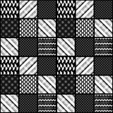 Seamless patchwork modern pattern Stock Photography