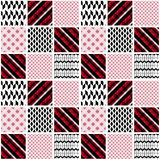 Seamless patchwork modern pattern Stock Images