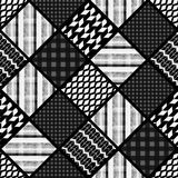 Seamless patchwork modern pattern Royalty Free Stock Images