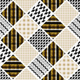Seamless patchwork modern pattern Stock Photos