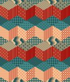 Seamless patchwork pattern. Royalty Free Stock Photos