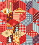 Seamless patchwork pattern for Christmas. Stock Photography