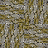 Seamless patchwork pattern dark bark background photo manipulati Stock Images