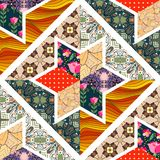 Seamless patchwork pattern. Royalty Free Stock Image