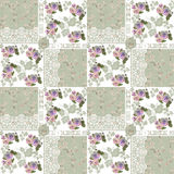 Seamless patchwork pattern with flowers and lace Stock Photo