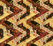 Seamless patchwork pattern with flowers. Vintage Royalty Free Stock Photos