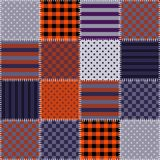 Seamless patchwork pattern in Halloween colors. Quilting. Vector illustration Stock Photography