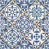 Seamless patchwork pattern , Moroccan tiles Stock Image