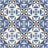 Seamless patchwork pattern , Moroccan tiles Royalty Free Stock Images