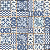 Seamless patchwork pattern , Moroccan tiles Stock Photo