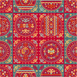 Seamless patchwork pattern. Oriental style. Seamless patchwork pattern. Ethnic geometric print. Wallpaper, pattern fills, web page background, surface textures Royalty Free Stock Images