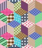 Seamless patchwork pattern. Ornamental background. Stock Images