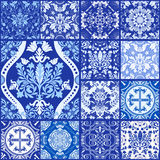 Seamless patchwork pattern ornaments. Royalty Free Stock Photo