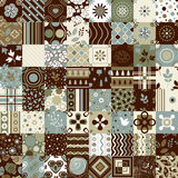 Seamless patchwork pattern ornaments. Can be used for wallpaper, pattern fills, web page background,surface textures. Seamless patchwork pattern ornaments. Each Stock Photo