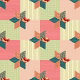 Seamless patchwork pattern. Ornate background. Stock Image