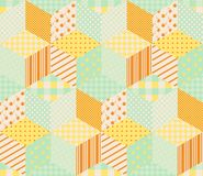 Seamless patchwork pattern with patches in pastel tones Royalty Free Stock Images
