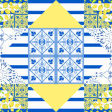 Seamless patchwork pattern. Quilted fabric style Stock Image