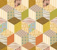 Seamless patchwork pattern. Quilting design. Seamless patchwork pattern. Vector illustration for beautiful creative design Royalty Free Stock Photography