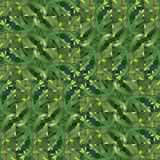 Seamless patchwork pattern of spruce green branches Stock Photography