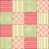 Seamless patchwork pattern from square patches Royalty Free Stock Image