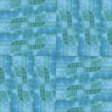 Seamless patchwork pattern texture of  green leaves Stock Images