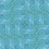 Seamless patchwork pattern texture of  green leaves Royalty Free Stock Images