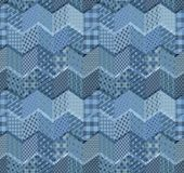 Seamless patchwork pattern with zigzags. Beautiful illustration Royalty Free Stock Photography