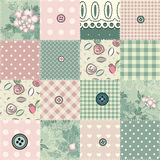 Seamless patchwork in shabby chic style. stock illustration