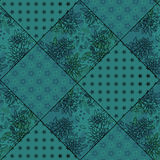 Seamless patchwork style pattern Stock Photos