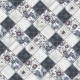 Seamless patchwork style pattern Royalty Free Stock Photography